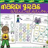 Mardi Gras Articulation Activities ALL SOUNDS