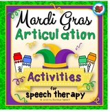 Mardi Gras Articulation Activities for Speech Therapy