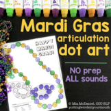 Articulation Dot Art for Mardi Gras {all sounds & NO prep!}
