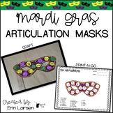 Mardi Gras Articulation Masks | Mardi Gras Speech Therapy