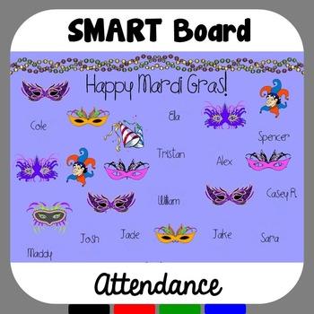 SMART Board Attendance: Mardi Gras