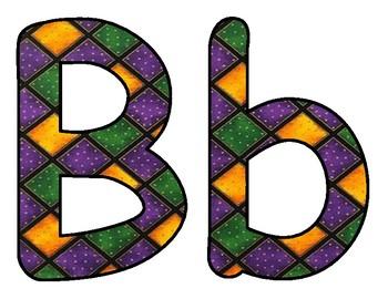 Mardi Gras BB letters