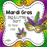 Mardi Gras Big & Little Sort File Folder Game