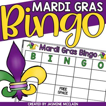 Mardi gras bingo clip art