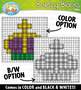 Mardi Gras Building Blocks Clipart {Zip-A-Dee-Doo-Dah Designs}