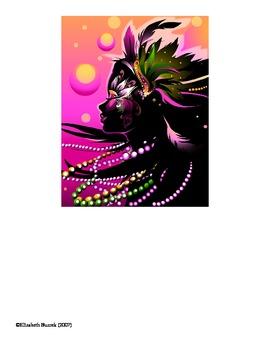 Mardi Gras Bulletin Board Set!