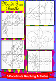 Mardi Gras Bundle of 5 Coordinate Graphing Activities