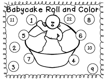 Mardi Gras / Carnival  Roll and Cover & Roll and Color (Freebie )