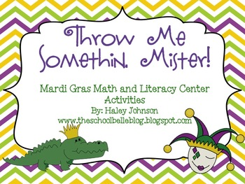 Mardi Gras Center Pack (Math and Literacy Activities)
