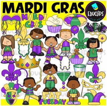 Mardi Gras Clip Art Bundle {Educlips Clipart}