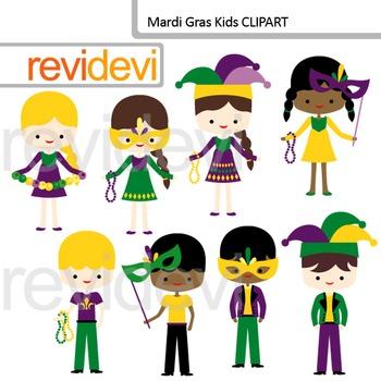 Mardi Gras Clipart - Mardi Gras Kids