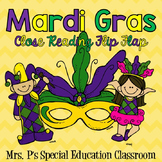 Mardi Gras Close Reading Flip Flap