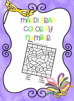Mardi Gras Color By Number