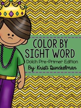 Mardi Gras Color By Sight Word--Pre-Primer Edition