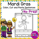 Mardi Gras Color Cut and Paste Sentence Writing