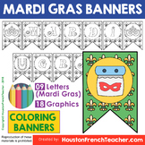 Mardi Gras Activities Coloring Banners Pennants Class Deco