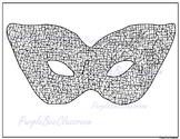 Mardi Gras Coloring Page -Mardi Gras Mask Doodle Coloring Page #2