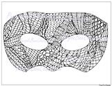 Mardi Gras Coloring Page -Mardi Gras Mask Doodle Coloring Page
