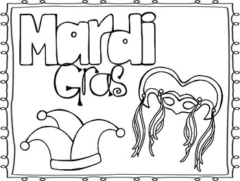 Mardi Gras Coloring Pages!