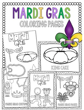 Mardi Gras Coloring Pages By Countless Smart Cookies Tpt