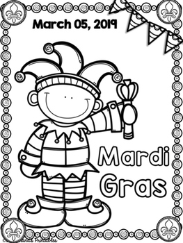 Mardi Gras Coloring Sheets with Mrs. Lendahand;)   TpT