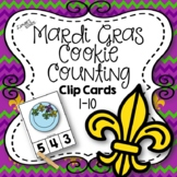 Mardi Gras Cookie Counting Clip Cards 1-10