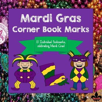 Mardi Gras Corner Book Marks