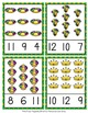 Mardi Gras Count and Clip Cards Numbers 1-12