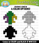 Mardi Gras Counting Cubes Clipart {Zip-A-Dee-Doo-Dah Designs}