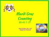 Mardi Gras Counting- Number Words 1-10