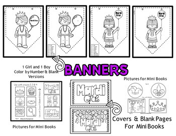 Mardi Gras Crafts - Mardi Gras Crowns, Banners, Mobiles and Booklets