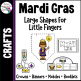 Mardi Gras Crafts - Crowns, Banners, Mobiles and Booklets
