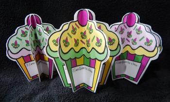 Mardi Gras Crafts & Art Activities: 3D Mardi Gras Cupcakes Craft Activity