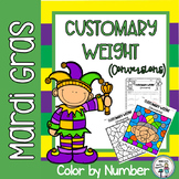 Mardi Gras Customary Weight Conversions Color by Number