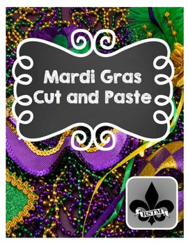 Mardi Gras Cut and Past Activity--NO PREP