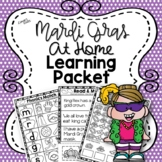 Mardi Gras At Home Learning Packet {Distance Learning}