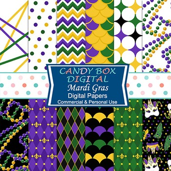 Mardi Gras Digital Background Papers
