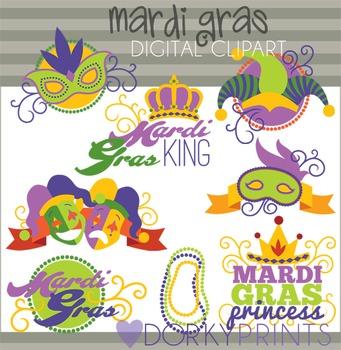 Mardi Gras Digital Clip Art