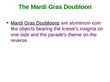 Mardi Gras Dubloons PowerPoint - 2nd Grade