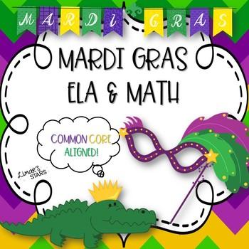 Mardi Gras ELA & Math Centers