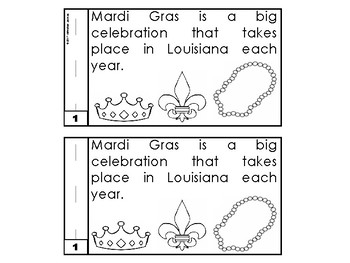 Mardi Gras Emergent Reader