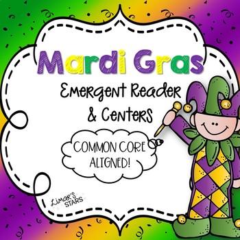 Mardi Gras Emergent Reader & Centers