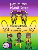 Mardi Gras Emergent Reader w/ Vocabulary Cards