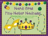 Mardi Gras Fine-Motor Madness! (crowns, beads and mask mats differenitated)