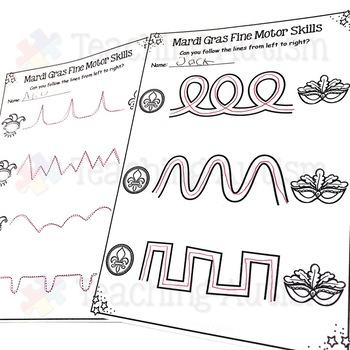 Mardi Gras Fine Motor Skills