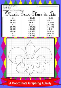 Mardi Gras Fleur de Lis - A Coordinate Graphing Activity