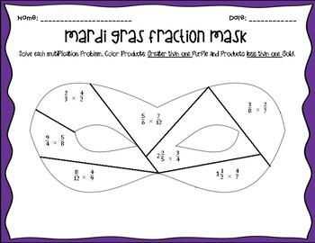 Mardi Gras Fraction Mask