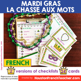 Mardi Gras French Scavenger Hunt Game - French Mardi Gras
