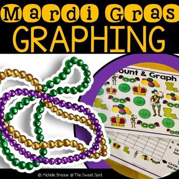 Mardi Gras Graphing Math Center
