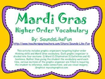 Mardi Gras Higher Order Vocabulary